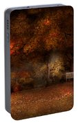 Autumn - A Park Bench Portable Battery Charger