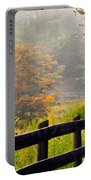 Autumn Along The Fence Portable Battery Charger