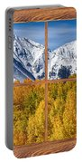 Autumn Aspen Tree Forest Barn Wood Picture Window Frame View Portable Battery Charger by James BO  Insogna