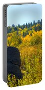 Autumn Aspen Trees Portable Battery Charger