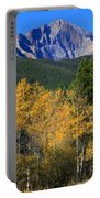 Autumn Aspens And Longs Peak Portable Battery Charger