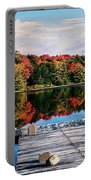 Autumn At The Pond Portable Battery Charger