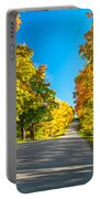 Autumn Back Road Portable Battery Charger