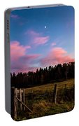 Autumn Barnyard Sunset Portable Battery Charger