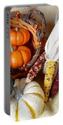 Autumn Basketful With Corn Portable Battery Charger