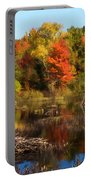 Autumn Beaver Pond Reflections Portable Battery Charger