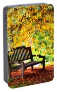 Autumn Bench In The Garden  Portable Battery Charger