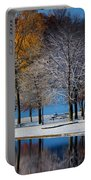 Autumn Blues Portable Battery Charger