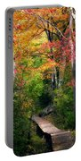 Autumn Boardwalk Portable Battery Charger by Bill Wakeley