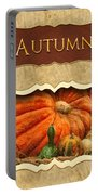 Autumn Button Portable Battery Charger by Mike Savad