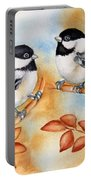 Autumn Chickadees Portable Battery Charger