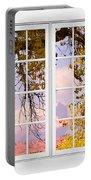 Autumn Cottonwood Tree Longs Peak White Window View Portable Battery Charger