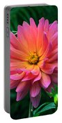 Autumn Dahlias And Palms Portable Battery Charger