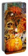 Autumn Display - Pumpkins On A Porch Portable Battery Charger