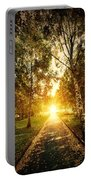 Autumn Fall Park Portable Battery Charger by Michal Bednarek