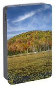 Serene Pond Vermont Autumn Panorama Portable Battery Charger