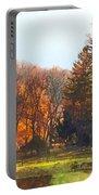 Autumn Farm With Harrow Portable Battery Charger