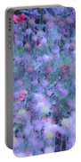 Autumn Flowers In Blue Portable Battery Charger
