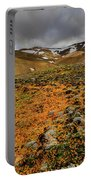 Autumn Foliage And Snowcapped Mountain Portable Battery Charger
