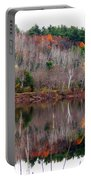 Autumn Foliage River Reflection Portable Battery Charger