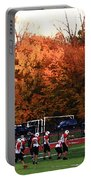 Autumn Football With Dry Brush Effect Portable Battery Charger