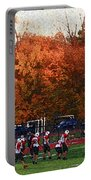 Autumn Football With Sponge Painting Effect Portable Battery Charger