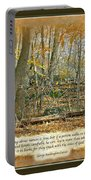 Autumn Forest - George Washington Carver Quote Portable Battery Charger