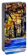 Autumn Forest Road V6 Portable Battery Charger