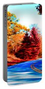 Autumn Forest Road V7 Portable Battery Charger