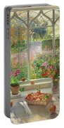 Autumn Fruit And Flowers Portable Battery Charger by Timothy  Easton