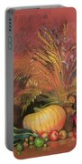 Autumn Harvest Portable Battery Charger by Claire Spencer