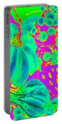 Autumn Harvest In Green And Purple - Pop Art Portable Battery Charger