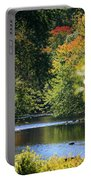 Autumn Highlights On The Quinnebaug River Portable Battery Charger