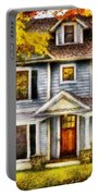 Autumn - House - Cottage  Portable Battery Charger by Mike Savad