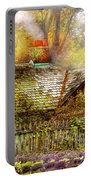 Autumn - House - On The Way To Grandma's House Portable Battery Charger by Mike Savad