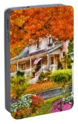 Autumn - House - The Beauty Of Autumn Portable Battery Charger
