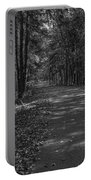 Autumn In Black And White Portable Battery Charger