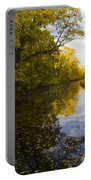 Autumn In Morrisville Pa Along The Delaware Canal Portable Battery Charger