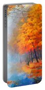 Autumn In The Morning Mist Portable Battery Charger