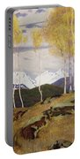 Autumn In The Mountains Portable Battery Charger by Adrian Scott Stokes