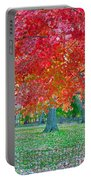 Autumn In Central Park Portable Battery Charger