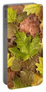 autumn is coming 5 - A carpet of autumn color leaves  Portable Battery Charger