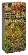 Autumn Lake And Swan Portable Battery Charger