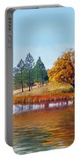 Autumn Lake In The Woods Portable Battery Charger