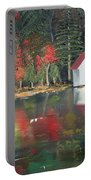 Autumn - Lake - Reflecton Portable Battery Charger