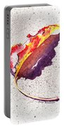 Autumn Leaf On Fire Portable Battery Charger