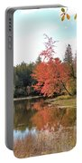 Autumn Leaning Tree Portable Battery Charger