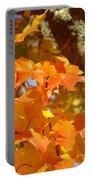 Autumn Leaves Art Print Yellow Orange Portable Battery Charger