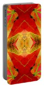 Autumn Leaves Mirrored Portable Battery Charger