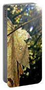Autumn Light On Leaf Portable Battery Charger